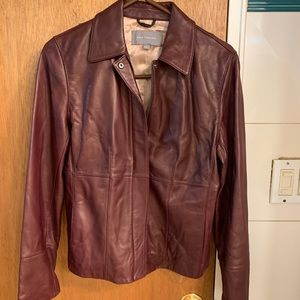 Ann Taylor Leather Jacket size small
